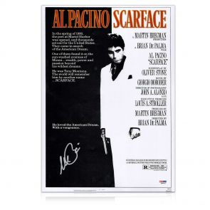 Al Pacino Signed Scarface Film Poster. In Gift Box