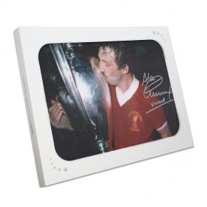 Signed Alan Kennedy European Cup Photo In Gift Box