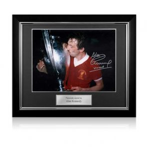 Framed Signed Alan Kennedy European Cup Photo