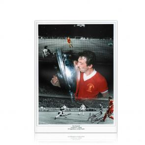 Alan Kennedy Signed Liverpool FC Montage: European Cup Winner. In Gift Box