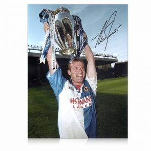 Alan Shearer Signed Blackburn Rovers Photo: Champions!