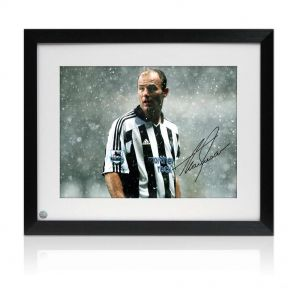 Alan Shearer Signed And Framed Newcastle United Photo: Toon Legend