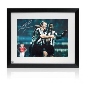 Alan Shearer Signed And Framed Newcastle Photo: The Manchester United Thrashing