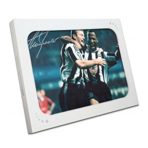 Alan Shearer Signing Newcastle Photo: With Sir Les. In Gift Box