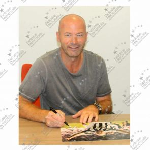 Alan Shearer Signed Newcastle United Photo: Sunderland Penalty. In Deluxe Black Frame With Silver Inlay