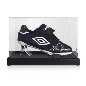 Alan Shearer Signed Football Boot In Display Case