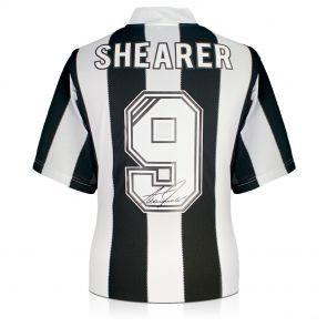 Framed Alan Shearer Back Signed Newcastle 1996 Shirt