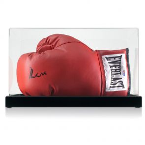 Muhammad Ali Signed Boxing Glove (PSA DNA 4A54131 In Display Case