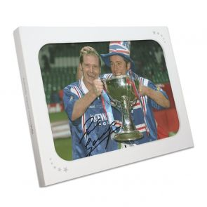 Paul Gascoigne And Ally McCoist Signed Rangers Photo. Gift Box