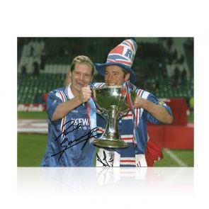 Paul Gascoigne And Ally McCoist Signed Rangers Photo