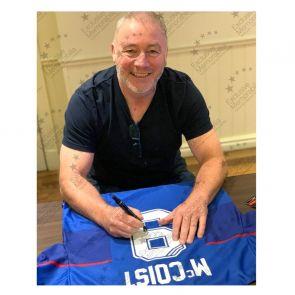 Ally McCoist Signed Rangers 1997-99 Shirt. Standard Frame