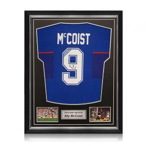 Ally McCoist Signed Rangers 1997-99 Shirt. Superior Frame