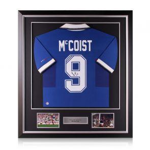 Ally McCoist Signed Rangers 1997-99 Shirt. Deluxe Frame