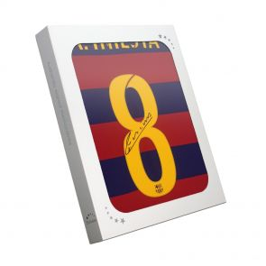 Signed Andres Iniesta Barcelona Jersey in gift box