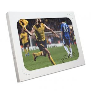 Andres Iniesta Signed Barcelona Photo: The Chelsea Goal. In Gift Box