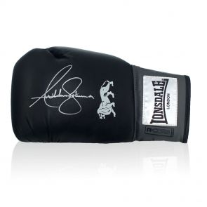 Anthony Joshua Signed Black Boxing Glove In Gift Box