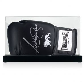 Signed Anthony Joshua Boxing Glove In Display Case