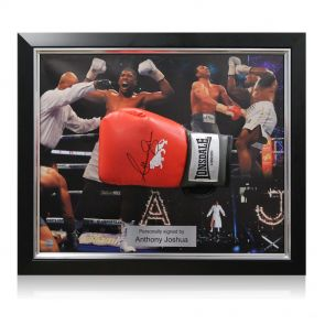 Framed Anthony Joshua Boxing Glove