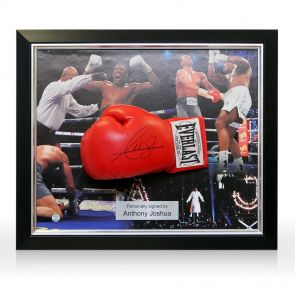 Framed Anthony Joshua Signed Boxing Glove