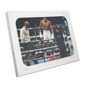 Anthony Joshua Signed Photo Gift Box