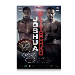 Anthony Joshua Signed Programme