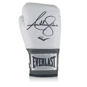Anthony Joshua Signed White Everlast Boxing Glove In Display Case