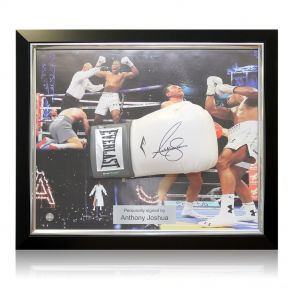 Framed And Signed Anthony Joshua Boxing Glove
