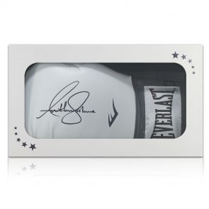 Signed Anthony Joshua Boxing Glove Gift Box