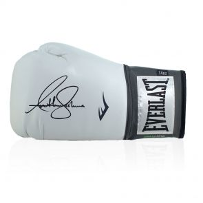 Anthony Joshua Signed White Boxing Glove In Display Case