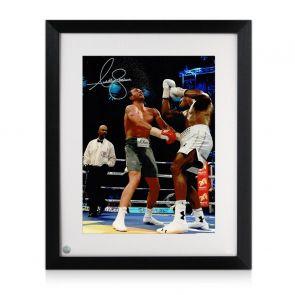Anthony Joshua Signed Boxing Photo: Klitschko Uppercut. Framed