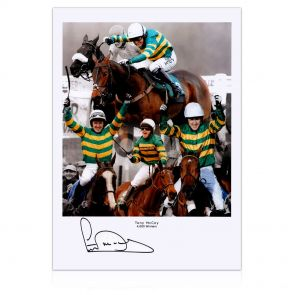 AP McCoy signed horse racing photo