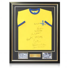 Framed Arsenal 1971 FA Cup Winners Squad Signed Shirt