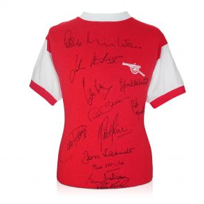 Arsenal 1971 Double Winners Squad Signed Shirt In Gift Box