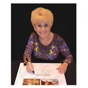 Dame Barbara Windsor Signed Carry On Camping Print