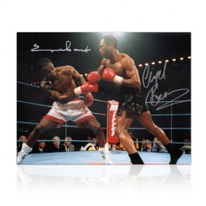 Signed Nigel Benn and Chris Eubank Photo