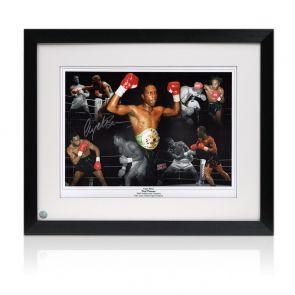 Nigel Benn Signed Boxing Photo: Dark Destroyer Framed