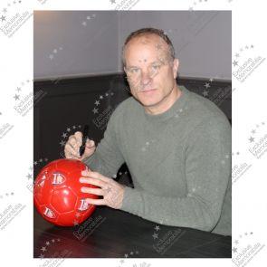 Dennis Bergkamp Signed Arsenal Football In Display Case