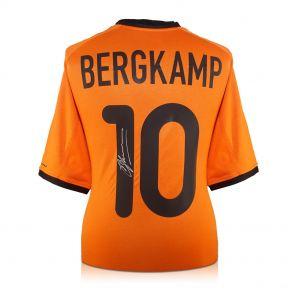 Dennis Bergkamp Signed Holland Shirt