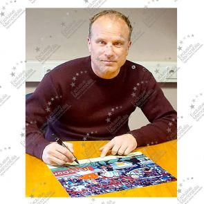 Dennis Bergkamp Signed Holland Photo: The Argentina Goal