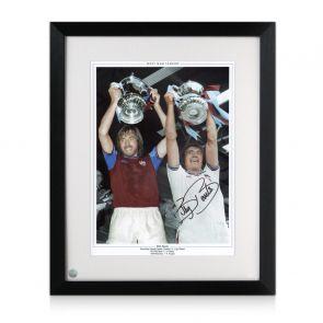 Billy Bonds Signed West Ham United Photograph Framed