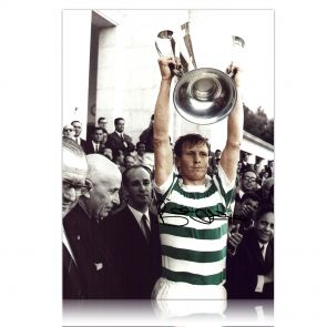 Billy McNeill Signed Celtic Photo: Lifting The European Cup. In Gift Box