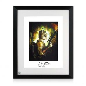 Boba Fett Signed Framed Star Wars Poster