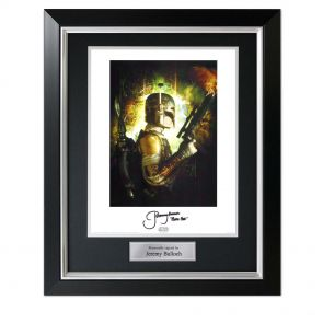 Boba Fett Signed Star Wars Poster In Deluxe Frame