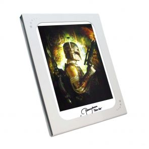 Boba Fett Signed Star Wars Poster In Gift Box
