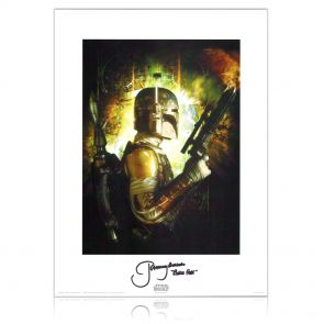Boba Fett Signed Star Wars Poster
