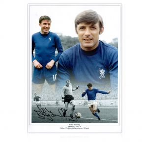 Bobby Tambling Signed Chelsea Photo
