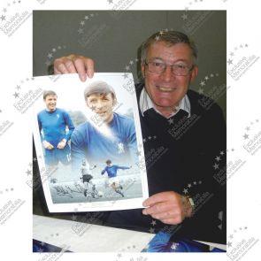 Bobby Tambling Signed Chelsea Photo. Deluxe Frame