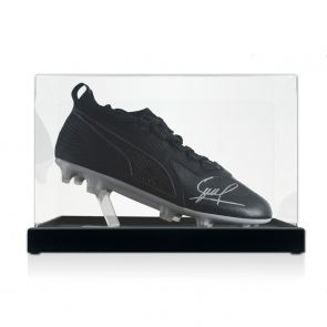 David Silva Signed Football Boot. In Display Case