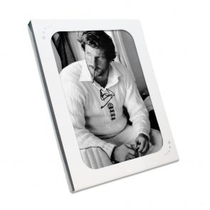Ian Botham Smoking Cigar Photo In Gift Box