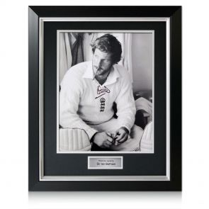 Deluxe Framed Ian Botham Smoking Cigar Photo